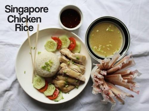 4 bước đơn giản nấu cơm gà Singapore cực ngon