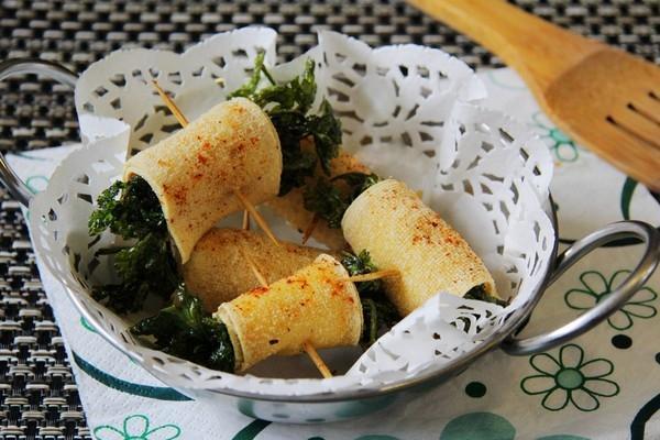Ăn chay ngon với phù trúc cuộn rau chiên giòn
