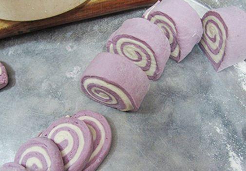Bánh bao khoai lang tím thơm bùi