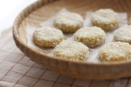 Bánh nếp khoai lang tẩm dừa