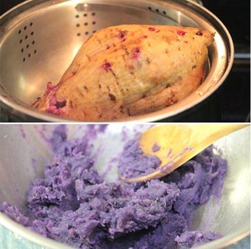 Bánh rán khoai lang tím