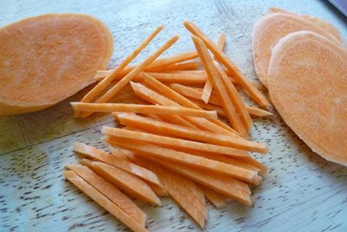 Bánh tôm khoai lang giòn ngọt