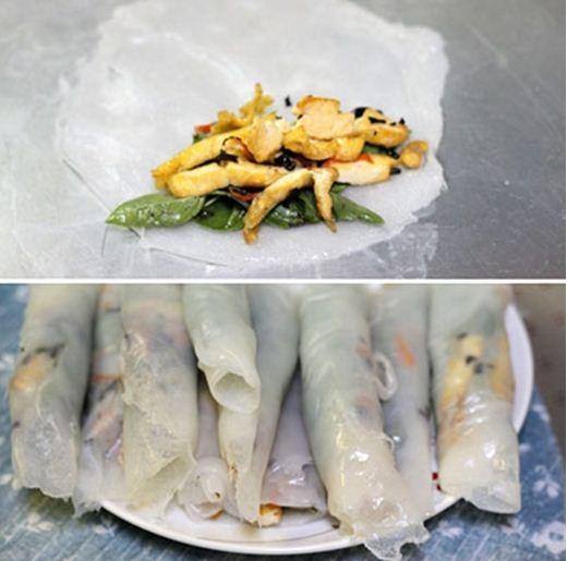 Bánh ướt cuốn chay cho ngày lễ Phật Đản