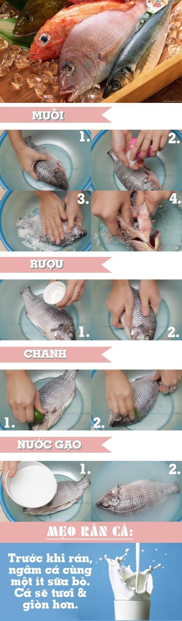 Các mẹo sơ chế giúp món cá không bị tanh