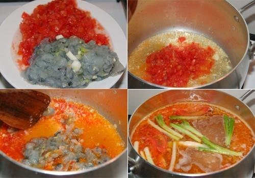 Cách làm món lẩu thả đặc sản Phan Thiết