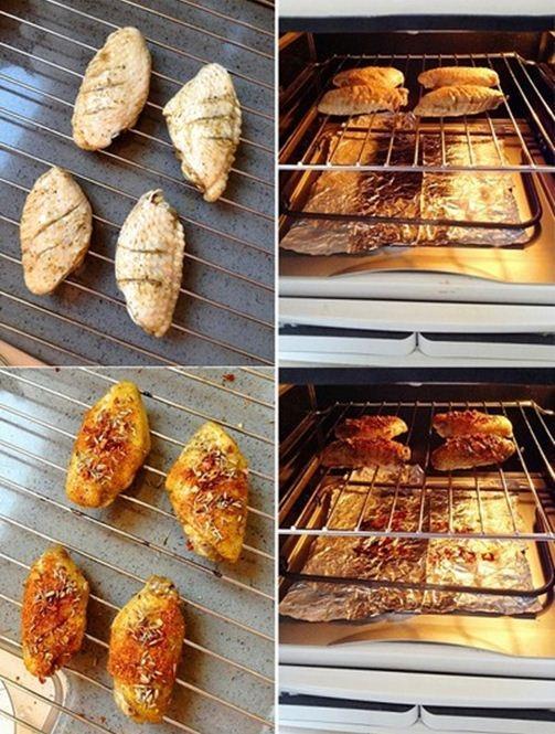 Cánh gà nướng cay đổi món cuối tuần