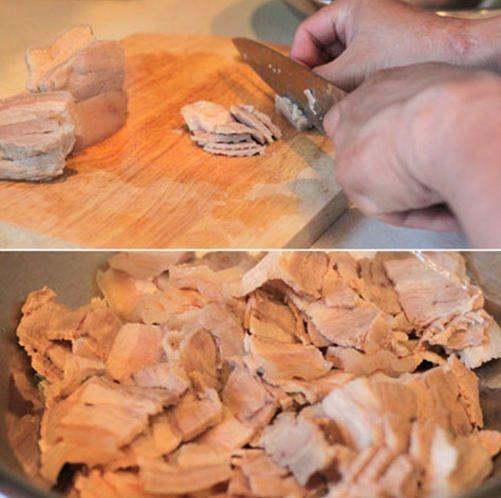 Củ cải trộn thịt ba chỉ