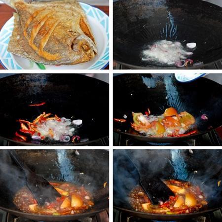 Cuối tuần nấu cá chim xốt cay
