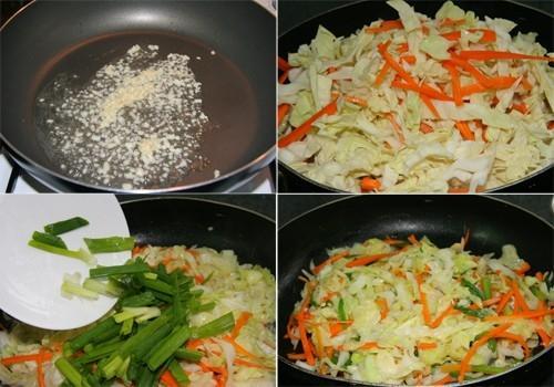 Đổi vị với rau cải xào