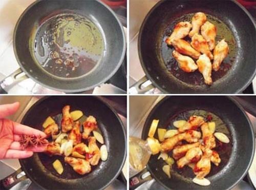 Đùi tỏi gà sốt nấm