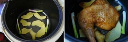 Dùng nồi cơm điện làm món gà nướng cực ngon