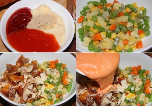 Khéo tay làm salad gà