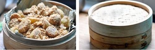 Khoai tây hấp thính - món ăn vặt mới cho mùa thu