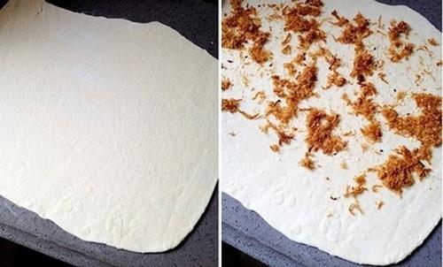 Làm bánh bao ruốc nhanh gọn cho bữa sáng đủ chất