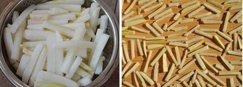 Làm củ cải dầm cay để dành ăn dần