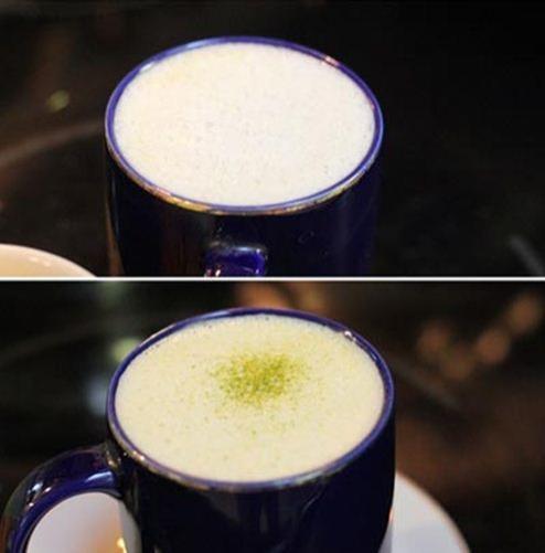 Làm latte trà xanh không khó