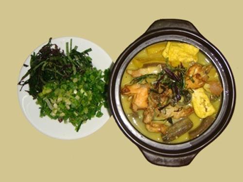 Ốc nấu chuối đậu, món ăn dân dã