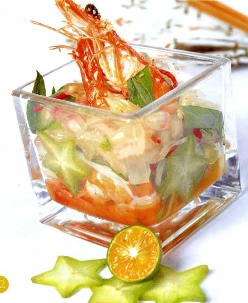 Salad tôm trái lựu