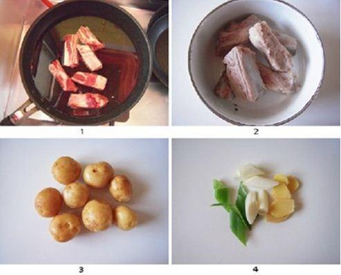 Sườn om khoai tây đậm đà lạ miệng