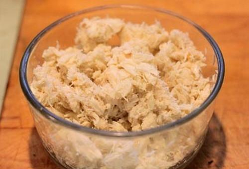 Súp nui gạo chả cua
