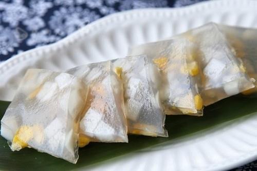 Thạch ngô cơm dừa thơm thơm mát lạnh