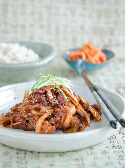 Thịt heo xào cay kiểu Hàn