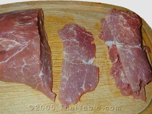 Thịt lợn nướng hương vị Thái Lan