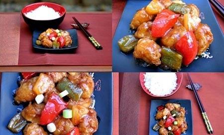 Thịt lợn sốt chua ngọt ngon tuyệt