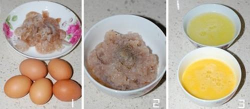 Trứng chiên cuộn tôm đẹp mắt ngon miệng