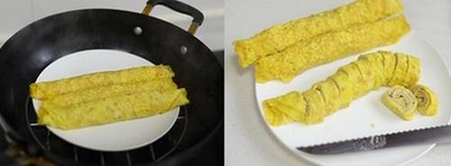 Trứng cuộn thịt đẹp mắt ngon miệng cho bữa tối