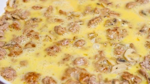 Trứng đúc thịt nấm